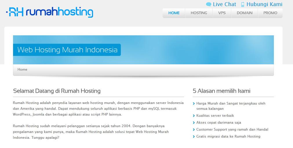 rumahhosting.com : Layanan Web Hosting Banyak Plusnya!